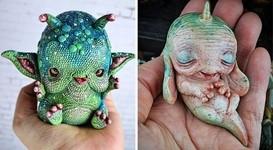 キモカワ!?ポリマークレイ製の手作りクリーチャー人形