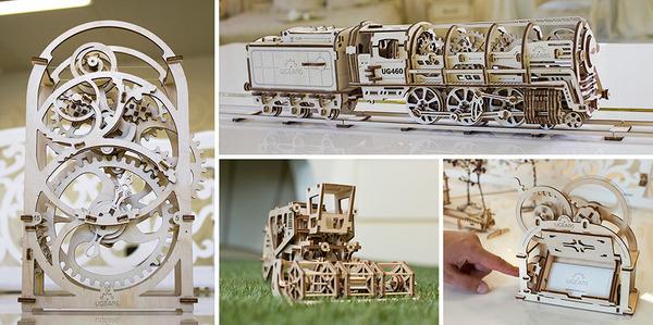 天然木材で接着剤なしで動く機関車模型 (7)
