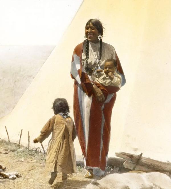 インディアン(ネイティブ・アメリカン)の貴重なカラー化写真 (12)