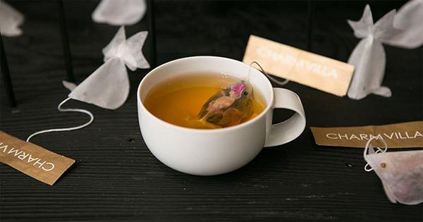 ぷかぷかお茶出すよ!台湾の茶葉が一杯詰まった金魚ティーバッグ (2)