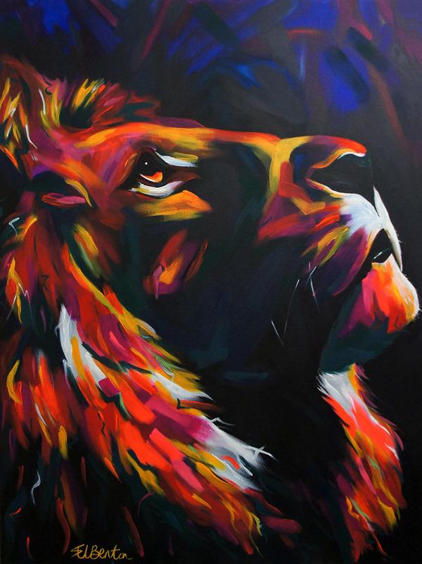 超カラフルな動物の肖像画シリーズ (14)