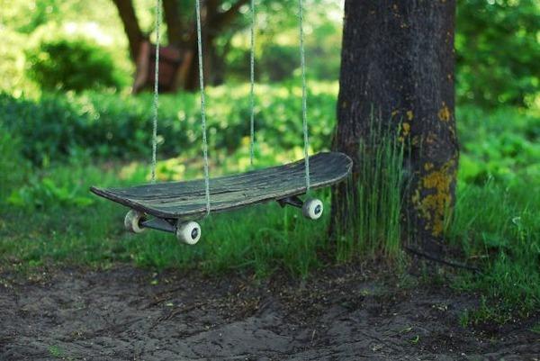 #17 Skateboard Turned Into Swings