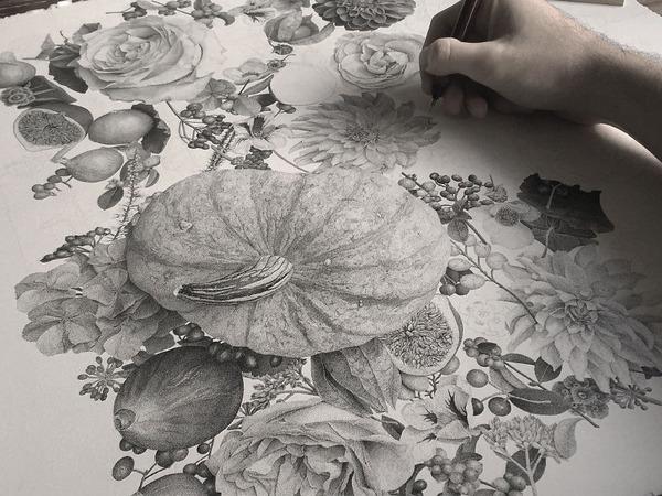 700万の点で描く!370時間をかけて制作された絵画『Autumn』 (2)