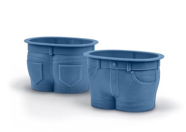 ジーンズの形をしたマフィンカップ