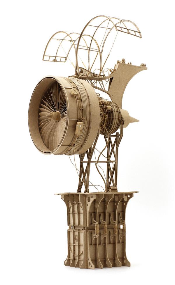 ダンボール製、飛行艇や産業的なオリジナル模型がかっこいい (4)