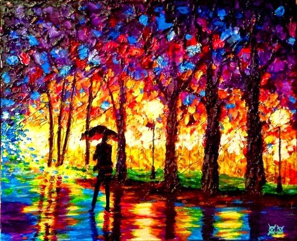 全盲の画家、ジョン·ブランブリットの絵画5