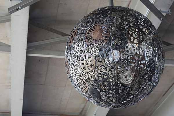 #1 Old Bike Parts Turned Into Chandelier
