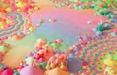 カラフル!キャンディで作られたキャンディーランド!