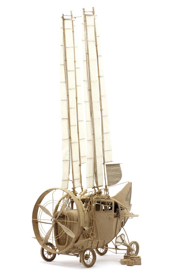 ダンボール製、飛行艇や産業的なオリジナル模型がかっこいい (5)