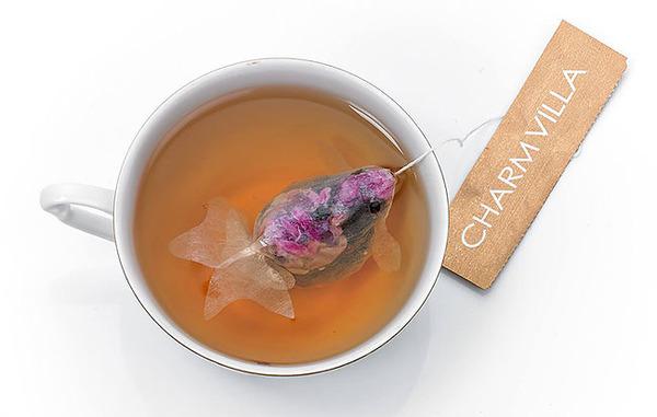 ぷかぷかお茶出すよ!台湾の茶葉が一杯詰まった金魚ティーバッグ (1)