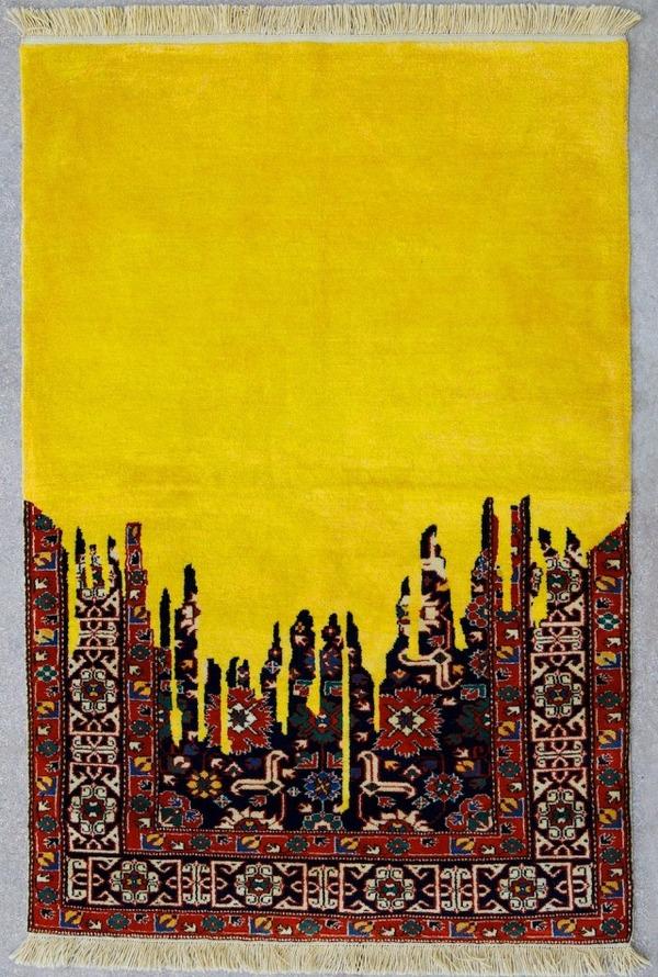 歪む、溶ける、飛び出す!不思議な形をした絨毯 (4)