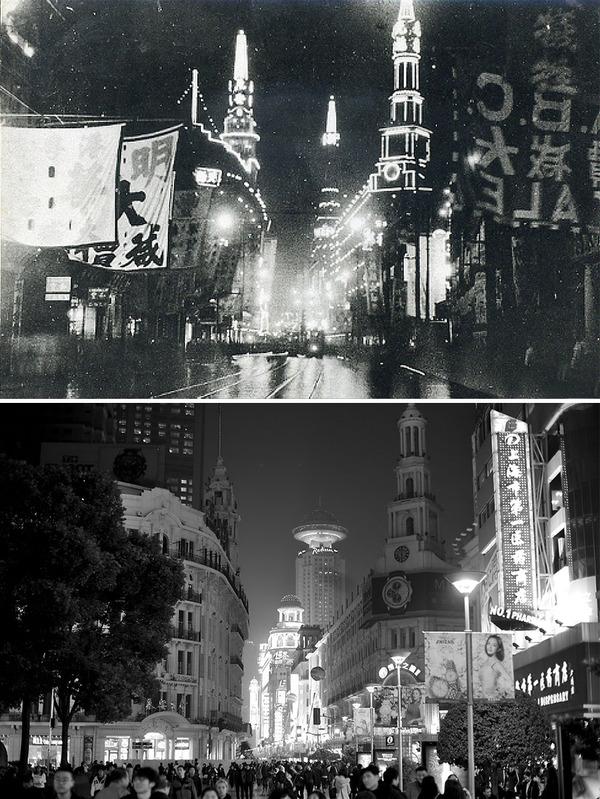 発展した中国の都市風景を比較!過去と現在の画像100年 (8)