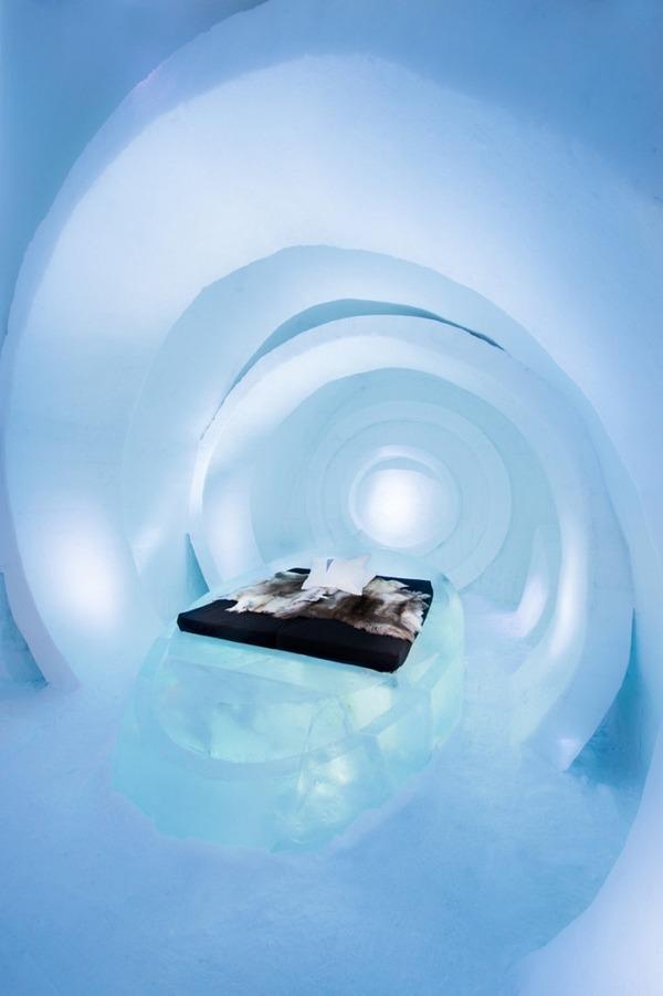 凍える寒さ!スウェーデンの氷の宿屋『アイスホテル』 (7)