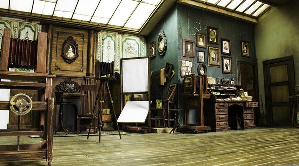 1900年代初頭の写真館をミニチュア・ジオラマ模型で再現 (8)