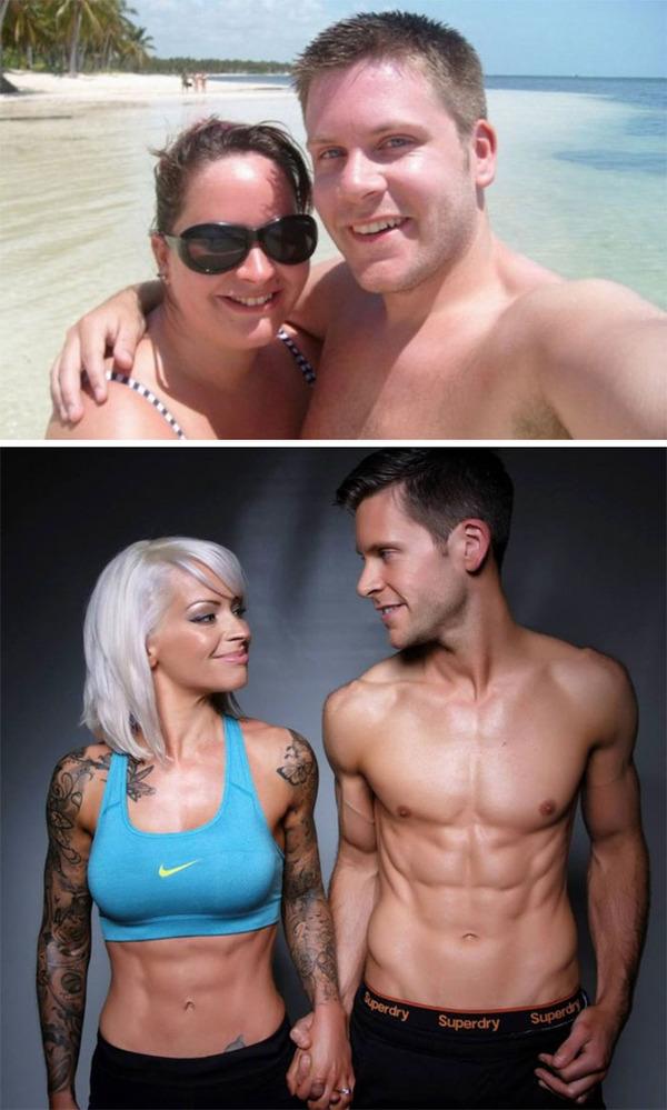 【比較画像】太ったカップルが痩せた (13)