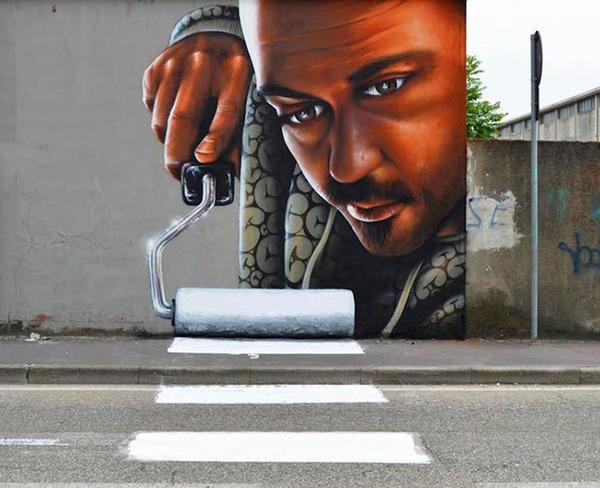 3Dペイントによる壁画ストリートアート 5