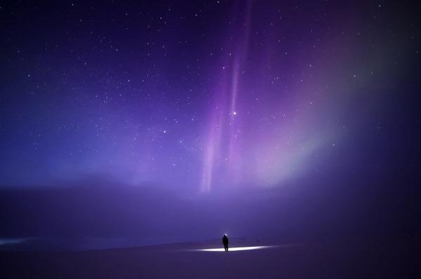 フィンランド北欧の美しい夜空。満天の星の画像 2