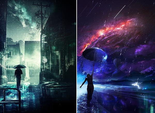 写真を加工して作る幻想的なデジタルアート、グラフィック (2)