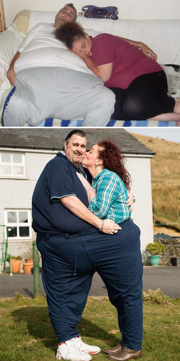 【比較画像】太ったカップルが痩せた (12)
