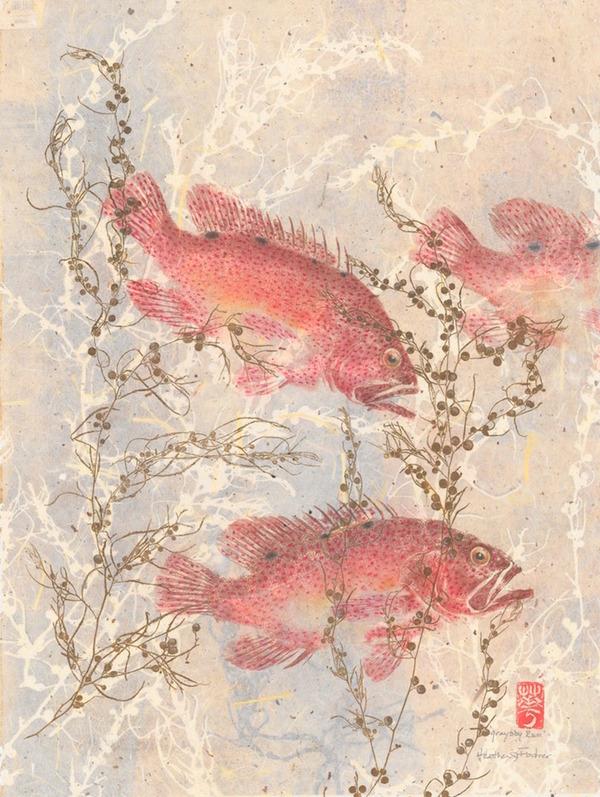 日本文化『魚拓』で描かれる海外アーティストによる絵画作品 (12)