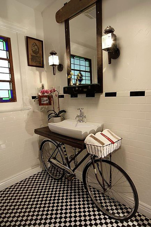 #13 Bicycle Into Sink Stand