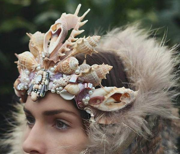 人魚姫?本物の貝殻をあしらったマーメイドクラウン (5)
