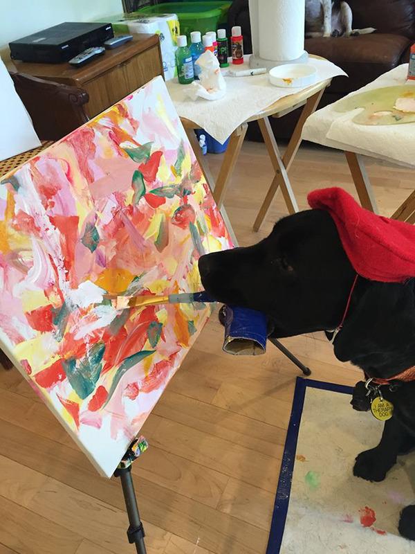 犬の画伯現る!補助犬から画家に転向したわんこの絵 (5)