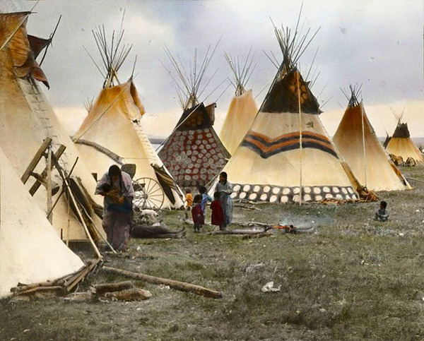 インディアン(ネイティブ・アメリカン)の貴重なカラー化写真 (23)
