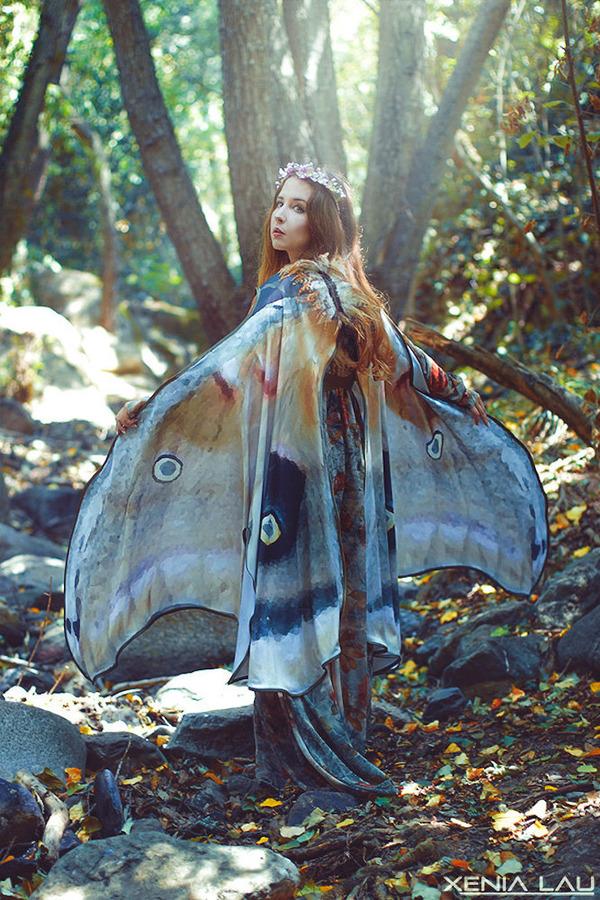 蝶の羽根模様のスカーフデザイン (4)