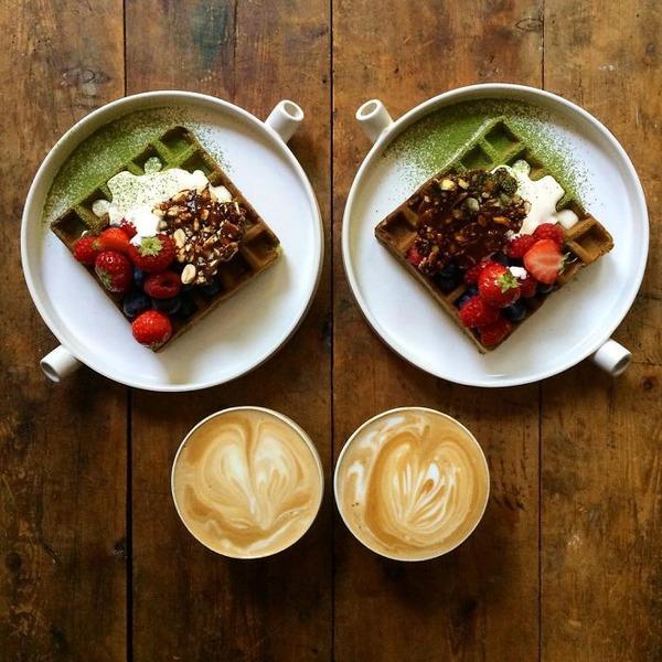 美味しさ2倍!毎日シンメトリーな朝食写真シリーズ (23)