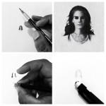 超小さいのに写実的!鉛筆の芯の先で描くミニチュア肖像画