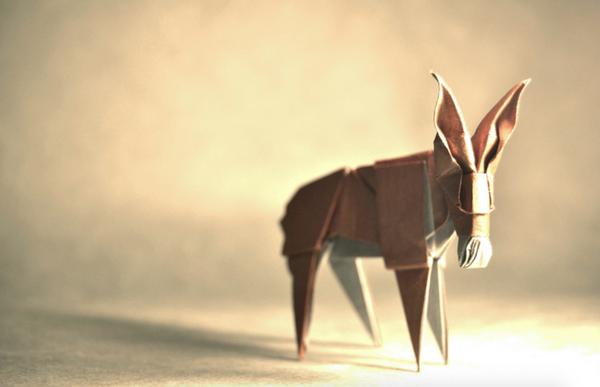 一枚の紙から折り紙で作る動物!折り紙アート (9)