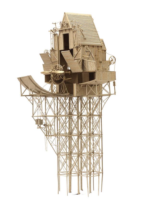ダンボール製、飛行艇や産業的なオリジナル模型がかっこいい (2)