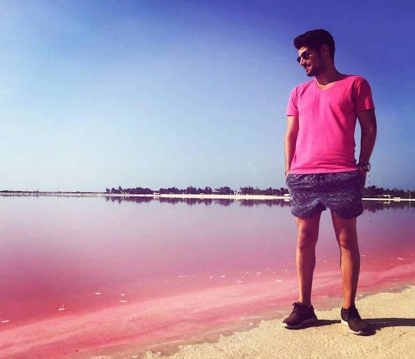 メキシコの塩湖が美しいピンクでミラクルファンシーだよー (1)