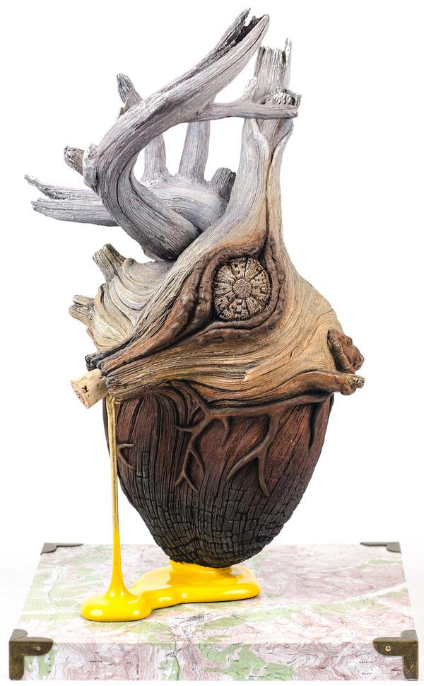 木材の彫刻に見えるセラミック彫刻 (16)