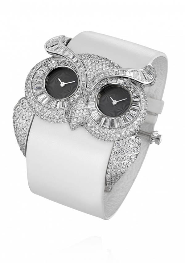 フクロウの腕時計