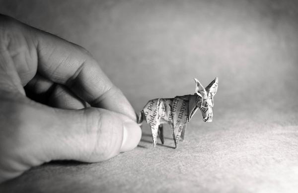 一枚の紙から折り紙で作る動物!折り紙アート (14)