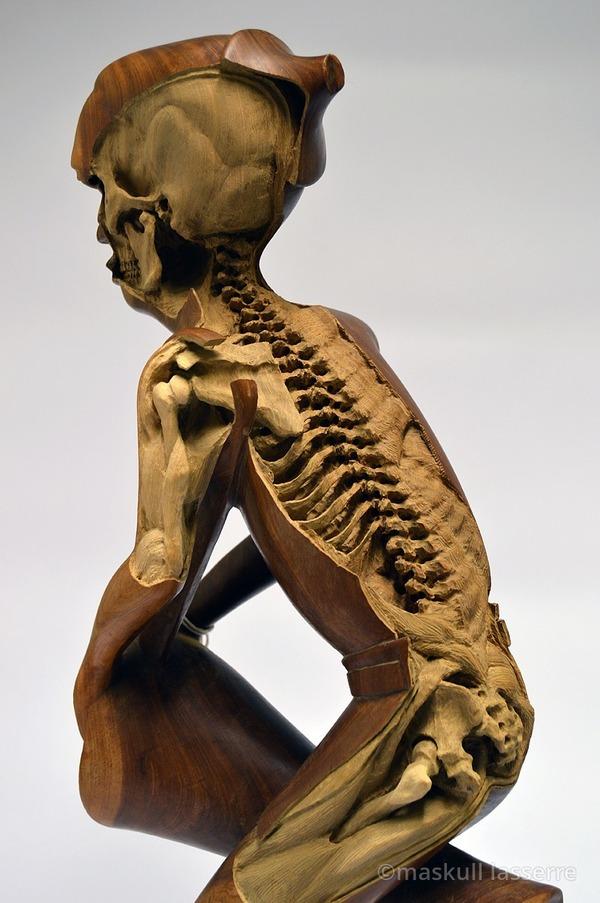 人間の骸骨彫刻 Maskull Lasserre 6