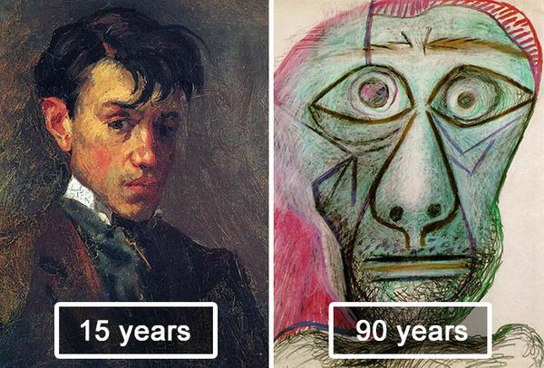 ピカソの自画像!15歳から90歳までの肖像画 (15)