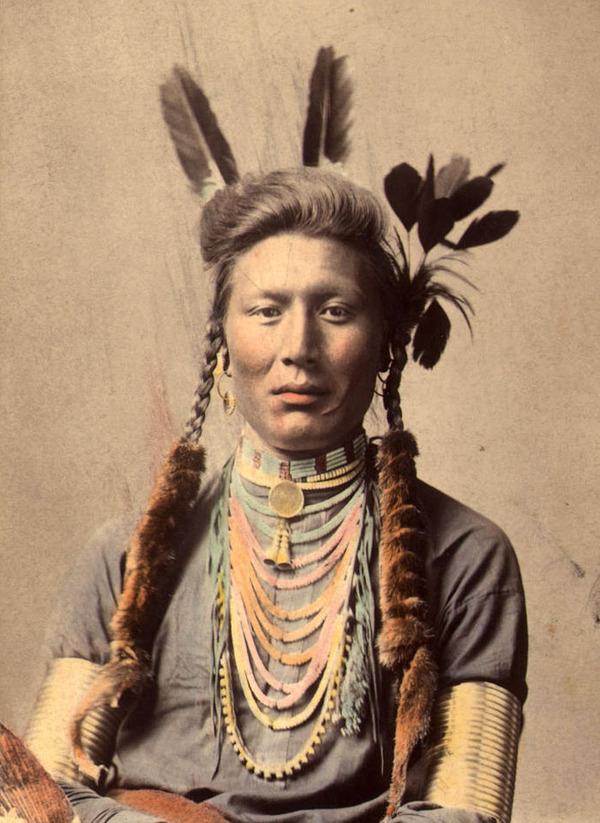 インディアン(ネイティブ・アメリカン)の貴重なカラー化写真 (39)