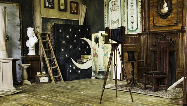 1900年代初頭の写真館をミニチュア・ジオラマ模型で再現 (7)
