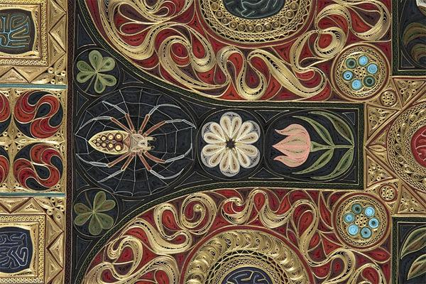 紙で作られた絨毯など、超大作なペーパークイリングアート! (9)