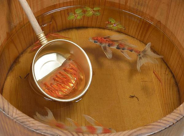 立体的で本物みたい!日本人が描く金魚すくいの絵が凄い (9)
