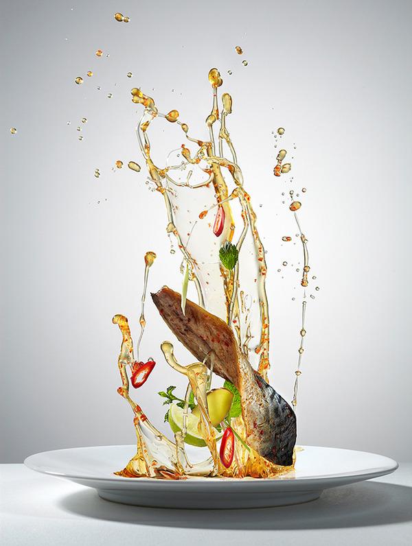 躍動する料理や食べ物の画像 (6)