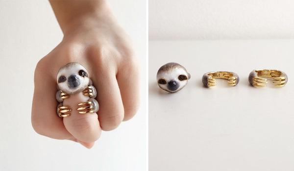 三つで一つの動物指輪。かわいいアニマルリング! (3)