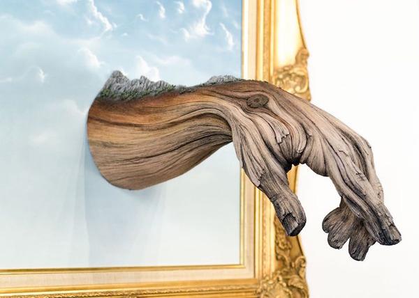 木材の彫刻に見えるセラミック彫刻 (12)