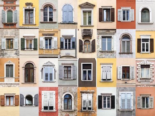 イタリア、トレントの玄関ドア