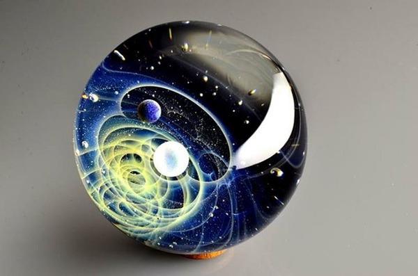 ガラスの中に宇宙!幻想的なペンダントトップ『宇宙ガラス』 (16)
