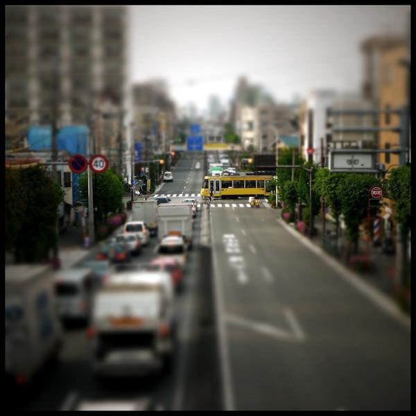 ミニチュアジオラマ風の東京の写真!チルトシフト (2)
