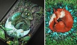 動物や自然をモチーフにした幻想的なブックカバー!